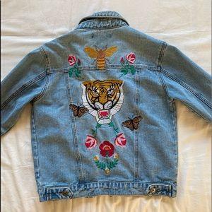 Forever21 Embroidered Denim Jacket
